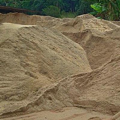 Areia média lavada para construção