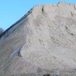 Areia fina para construção